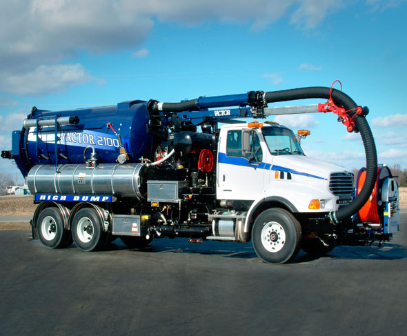 Vactor 2100 With Positive Displacement Blower